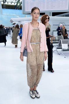Marie Ange Casta in Chanel   - HarpersBAZAAR.com