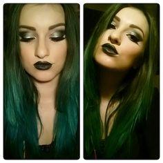 Green hair and metallic make up pt.2