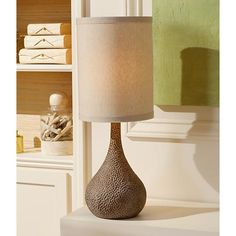 Chalane Hammered Gourd Bronze Table Lamp - #Y8112 | Lamps Plus