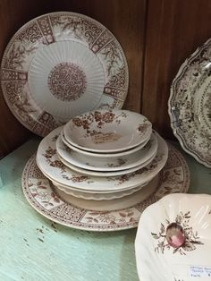 Brown transfer ware... Johnson Brothers