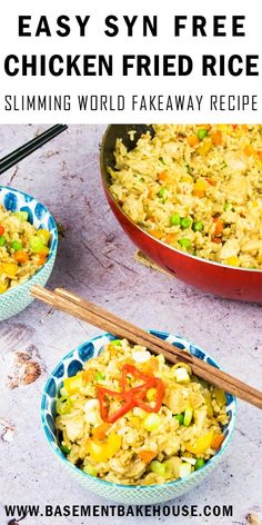 This Syn Free Chicken Fried Rice recipe is the ultimate healthy Slimming World fakeaway recipe! It's a super easy dinner recipe that the whole family will love, and makes enough for eight people so you'll even have leftovers for meal prep. Slimming World Chicken Fried Rice, Chicken Fried Steak Easy, Asian Chicken, Gluten Free Recipes For Dinner, Easy Healthy Recipes, Dinner Recipes, Easy Meals, Dinner Ideas, Slimming World Fakeaway