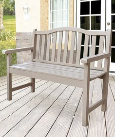 Look at this Taupe Gray Belfort Garden Bench on #zulily today!