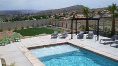 St. George house rental - Pool and grass area/putting green 399/night sleeps 18