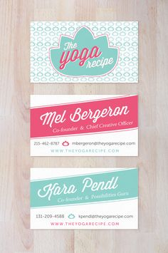 The Yoga Recipe Business Cards