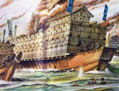"""The second Battle of Kizugawaguchi, 1578""  The two Battles of Kizugawaguchi (木津川口の戦い) were fought during Oda Nobunaga's attempted sieges of the Ishiyama Hongan-ji in Osaka"