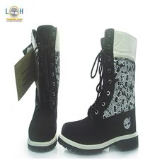 Timberland Boots with Heels for Women | Womens High Top Timberland Boots Black White - $123.00 : Timberland ...