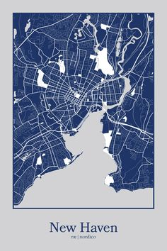 New Haven, USA Map Print