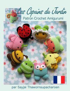Les Copains du Jardin Patron Crochet Amigurumi (Patrons Faciles d'Amigurumis au Crochet t. 10) eBook: Sayjai Thawornsupacharoen: Amazon.fr: Boutique Kindle