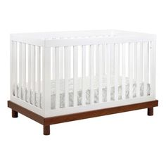 Baby Mod Olivia 3-in-1 Convertible Crib | Wayfair Best Baby Cribs, Best Crib, Mattress Springs, Crib Mattress, Modern Crib, Baby Comforter, Convertible Crib, Baby Grows, Unique Baby