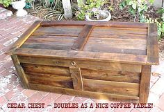 coffee table for lounge  CEDAR CHEST / Coffee TABLE  Crafted From by OLDGLORYWOODCRAFTS, $149.95