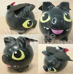 Summer Fun For Kids, Cool Kids, Pig Bank, Personalized Piggy Bank, Paper Mache Clay, Httyd, Craft Projects, Paper Crafts, Pottery