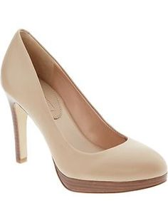I really like these nude pumps from Banana Republic.  I just can't get myself to spend $120 on one pair of shoes!