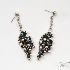 Blue and silver #earrings #Italian #fashionmaker #FloNewAge