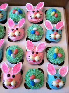 Easter cupcakes Easter Deserts, Easy Easter Desserts, Easter Treats, Easter Recipes, Holiday Desserts, Easter Ham, Hoppy Easter, Easter Dinner, Easter Brunch