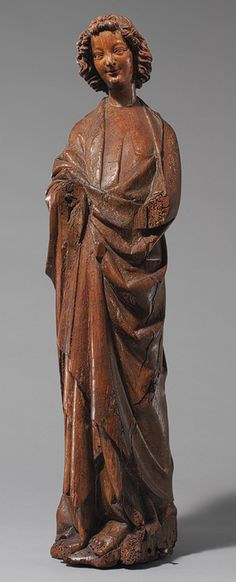 This sculpture is from the late 13th century and is known as the Alter Angels. Art from the Gothic Period is known for being religeous in nature and included angels. This sculpture is from France, and originally included wings which have since been lost. The angel is made of Oak with traces of polychromy.
