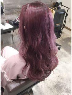 トルネード(Tornado) ピンクベージュ バイオレット パープルラベンダー ボルドー Dyed Hair Purple, Violet Hair, Hair Color Purple, Asian Hair Dyed, Peach Hair, Lavender Hair, Headband Hairstyles, Pretty Hairstyles, Korean Hair Color