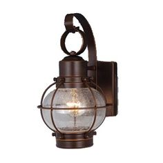 Vaxcel Lighting OW21861 Nautical SingleLight Outdoor Sconce - Rear of house door lights (x6 or x8 or x10 if used at side door or garages, but perhaps mid-size for Garage?) Width: 6.5in Height: 12in Projection: 11in