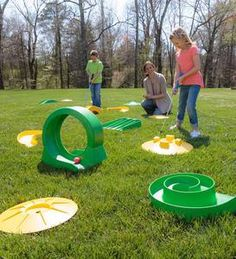 Design-Your-Own Mini Golf Deluxe Course Kit For Kids - Defacto Gmbh Outdoor Toys, Outdoor Fun, Outdoor Spaces, Outdoor Living, Pe Games, Games To Play, Golf Party Games, Party Activities, Stem Activities