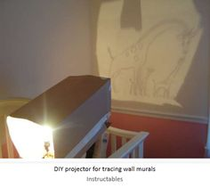 How to Paint a Mural in a Child's Nursery with an easy Projection - www.instructables.com