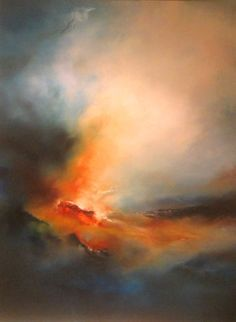 There's something so compelling about this, I love it.....Abstract Landscape Oil Painting by SimonkennysPaintings on Etsy, £1899.00