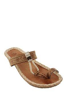 Phat Tribal Patterned Toe Ring Sandal