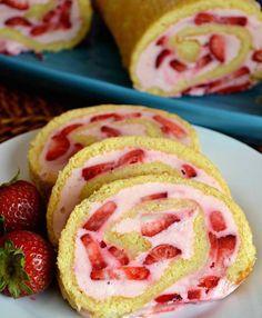 Roulé à la fraise et mascarpone1                                                                                                                                                                                 Plus