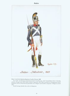 The Confederation of the Rhine - Baden: Plate 3. Leib (1st) Infantry Regiment, Fusilier Private, 1809