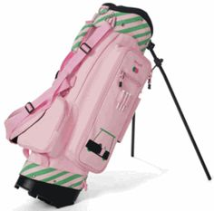 Pink and Green! Ladies Golf Bags, Pink And Green, Golf Courses, Lady, Sports, Hs Sports, Sport