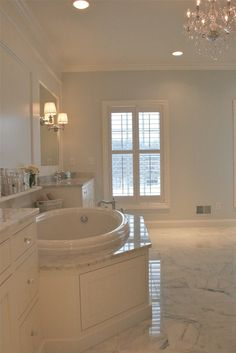 walls are sherwin williams quicksilver #6245. August Fields: master bathroom