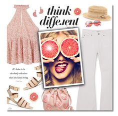 """Think Different"" by jgee67 ❤ liked on Polyvore featuring MANGO, Bebe, Kate Spade and Cutler and Gross"