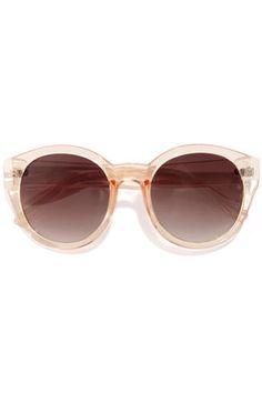marlo peach sunglasses / lulu's