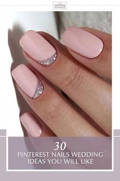 Semi-permanent varnish, false nails, patches: which manicure to choose? - My Nails Wedding Toes, Simple Wedding Nails, Wedding Nails Design, Simple Nails, Wedding Bride, Wedding Nails For Bride Natural, Wedding Toe Nails, Wedding Ceremony, Pinterest Nail Ideas