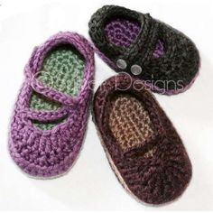Adorable crochet baby shoes