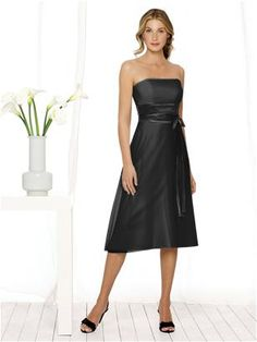 In black with either a silver or the damask print belt. Available at Bridal House - After Six Bridesmaid Style 6506 http://www.dessy.com/dresses/bridesmaid/6506/