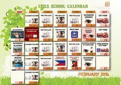 Lịch hoạt động tháng 2-2016 của trường Anh ngữ CPILS