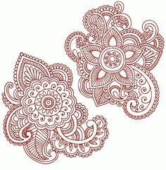 Plant Henna Tattoo Designs