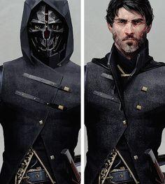 The Art of Dishonored 2 ◗ Corvo Attano Video Game Characters, Dnd Characters, Fantasy Characters, Character Concept, Character Art, Concept Art, Dishonored 2, Character Portraits, Video Game Art