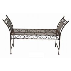 Marquee Rustic Iron Backless Bench