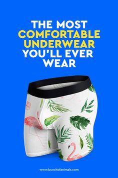 Mens Colorful Flamingo Underwear Boxer Briefs Ultra Soft Comfortable