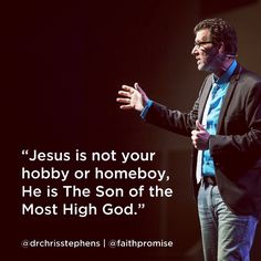 Jesus is not your homeboy.