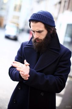 Beanie beard jacket coat winter tumblr Style men