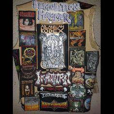 Fabian Bart Thrower from Germany #metaljacket #kutte #bandpatch #bandpatches #battlevest  #heavymetal #thrashmetal  #denimjacket #patchedvest #deathmetal  #metalpatches  #metal #wovenpatch #metalmaniacs #metalmaniac #metalvest #metalkutte #metalhead  #metalheads #metalgirl #metalheadgirl #slayer #slayerband #slayernation