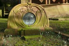 Art Nouveau style headstone in Compton Village Cemetery, Surrey, England #gravestone #tombstone