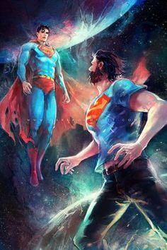 Pre-52 Superman & New-52 Superman - haining-art.tumblr.com