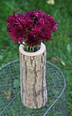 Rustic Wooden Vase by wrenwoods on Etsy