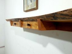 Cherry Live Edge Shelf Floating 2 Drawer Entry by GRWoodworker