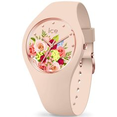 99€. Boitier rond silicone rose clair 40mm taille M, cadran rose motif fleur, bracelet silicone rose clair, étanche 100m Online Watch Shopping, Bracelet Silicone, Pink Bouquet, Stainless Steel Screws, Motif Floral, Watch Model, Cool Watches, Fashion Watches, Vintage Jewelry