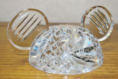 Waterford Crystal Mickey Mouse Ears Paperweight  - Disney Collectable - Rare