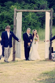 Beautiful Double doors for outside weddings! & outdoor country wedding best photos | Wedding Weddings and ... pezcame.com