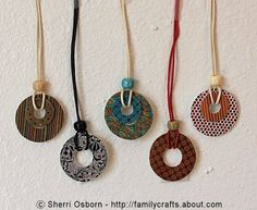 jewelry ideas to make | How to Make a Washer Necklace Using Shrink Plastic